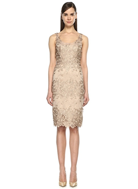 Marchesa Notte Elbise Pudra